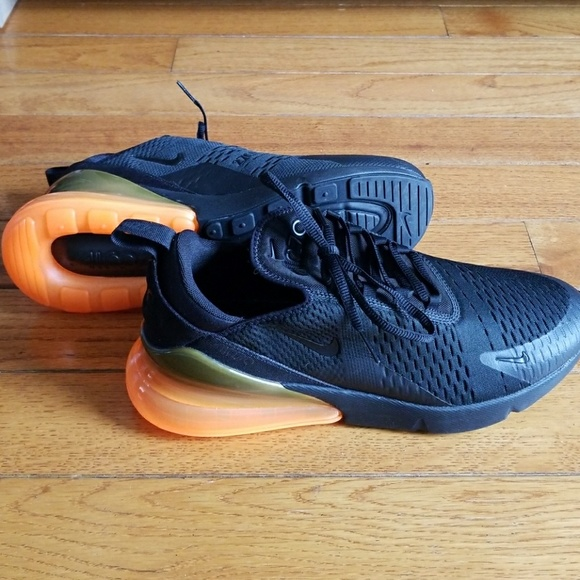 Nike Shoes Mens Air Max 270 Black Total Orange Poshmark